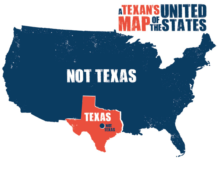 Texas Not Texas Map 8 Funny Maps of Texas