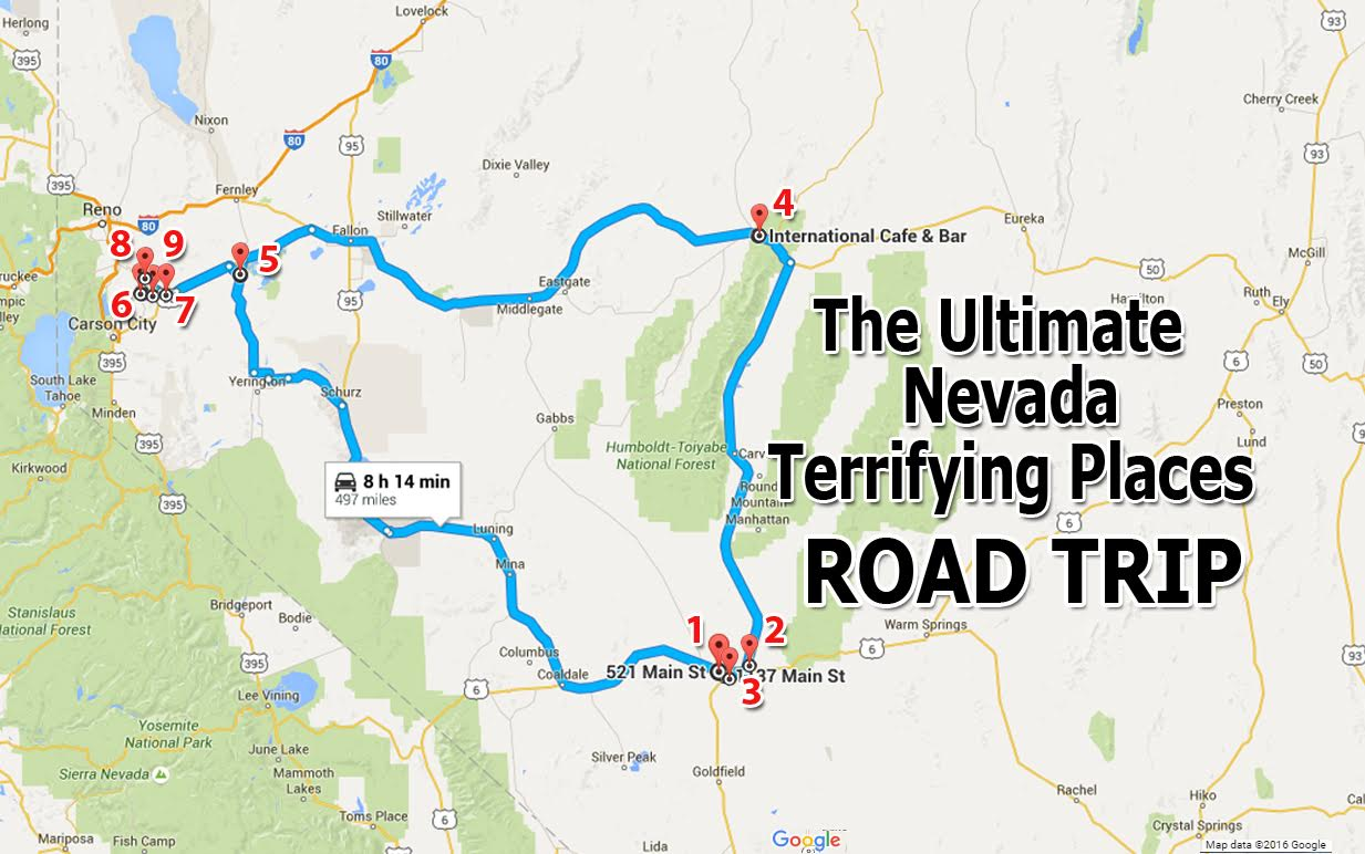 The Ultimate Terrifying Nevada Road Trip – Tourist Attractions Map In Nevada