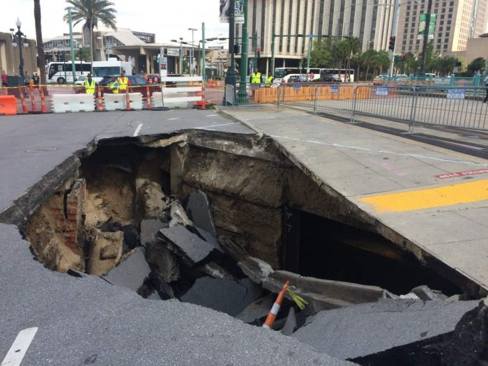 Since then, it has been underused and not well known at all, until a recent sinkhole opened up at the foot of Canal St., bringing attention to the old tunnel.