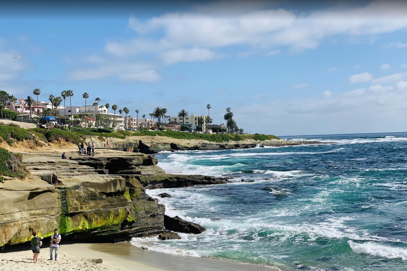 The Sparkling Blue Water At La Jolla Cove In Southern California Is So Clear You Can See Straight To The Bottom Of The Ocean Floor