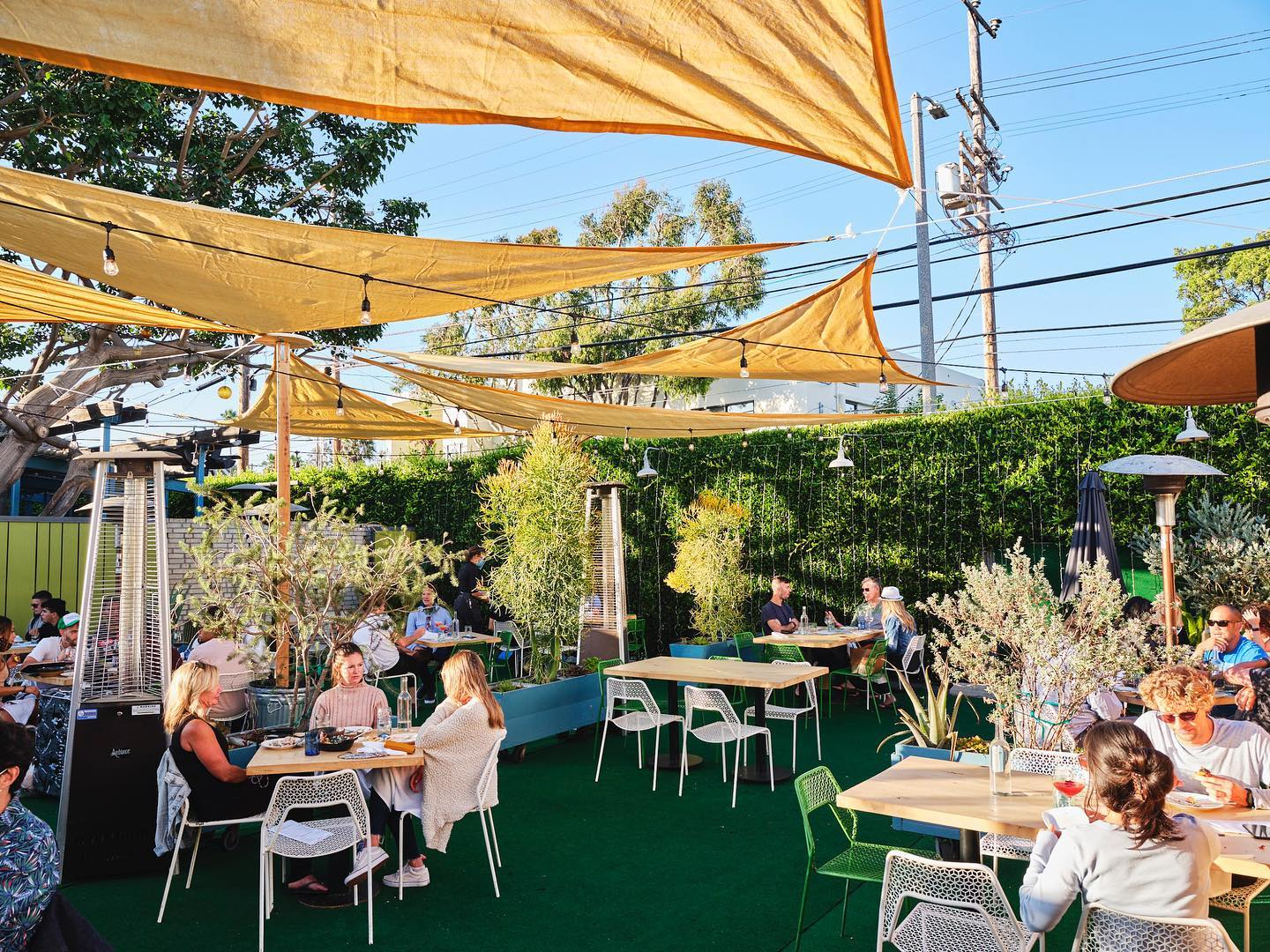 The Iconic Eatery In Southern California, The Rose Venice, Has The Most Delightful Outdoor Hideaway