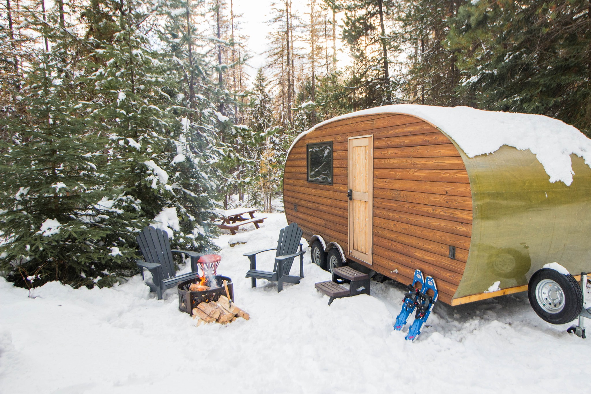Enjoy Winter Wonderland Glamping At Its Finest At Roam Beyond In Montana